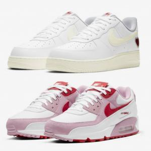 """NIKE AIR FORCE 1 LOW & WMNS AIR MAX 90 QS """"Valentine's Day"""""""