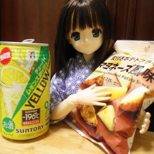 セブンイレブン【レモンスカッシュ イエローショット】と【大きなポテトフライ マヨネーズ風味】