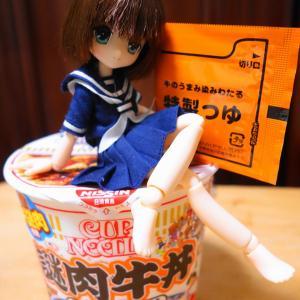 日清【謎肉牛丼】美味しいけど、つゆだくの苦手な人はキビシイカモ
