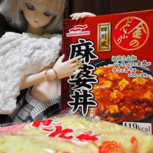 自炊?【レトルトのマーボー丼の素を使ってマーボー麺】