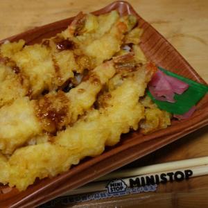 ミニストップ新商品【海老天重】よくわからんけど、天ぷらは夏のイメージ