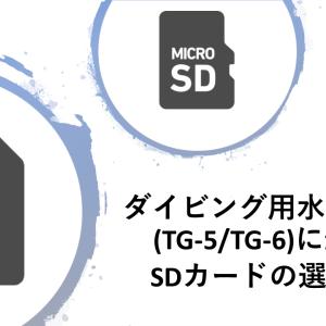 ダイビング用水中カメラ(TG-5/TG-6)のSDカードの選び方!
