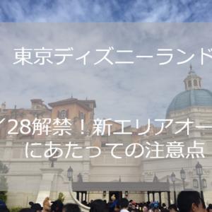 9/28解禁!新エリアオープンにあたっての注意点【TDR】
