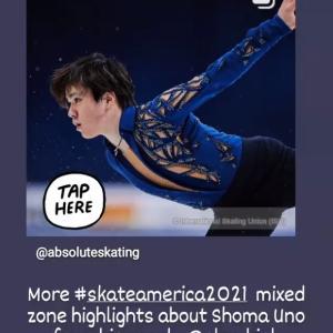 Absolute Skating インスタ ステファンコーチが昌磨君について語ってくれています。