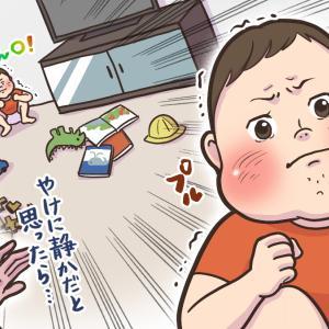 育児(2歳児)あるある「部屋の隅で隠れてウンチしがち」