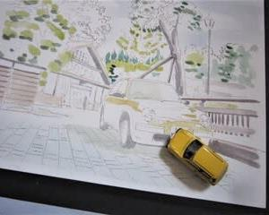北陸最古の旅館を描く その2 & パイクカー検定Q147