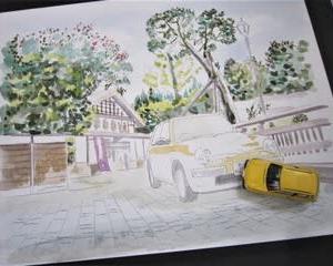 北陸最古の旅館を描く その3 & パイクカー検定Q148