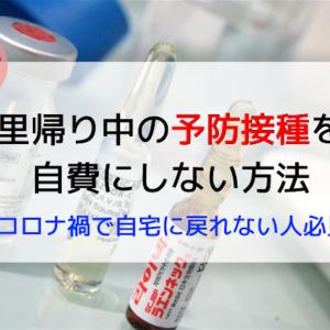 里帰り中の予防接種を自費にしない方法【コロナ禍で自宅に戻れない人必見】