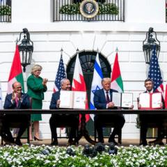 Abraham Accords (アブラハム協定)の署名は、どこの国で行われた?