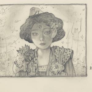 20201029絵日記 「女性作家はいつまでも美しい。」