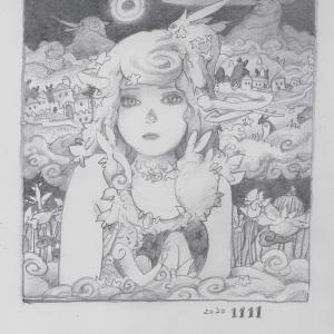 202011111絵日記 「うさぎの世界」