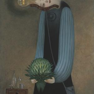 アクリル画 『Miniature bulb』(豆電球)