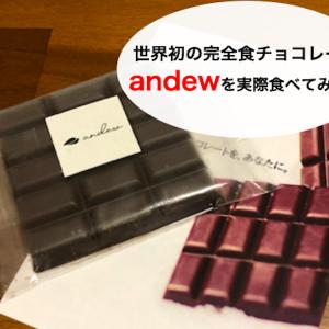 【andew】世界初の完全食チョコレート!実食してみた【評判・口コミも】