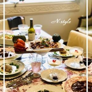 秋の食卓。