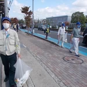 県下一斉道路清掃に参加しました!
