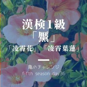 漢検1級漢字「黶」と、「凌霄」のつく植物