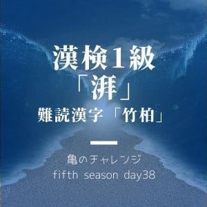 漢検1級漢字「湃」と、難読漢字「竹柏」