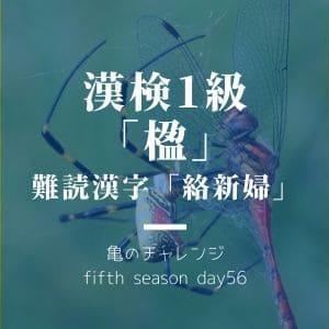 漢検1級漢字「楹」と、難読漢字「絡新婦」