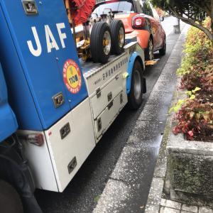車のエンジンかからない! JAF救援!