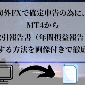 海外FXで確定申告の為に、MT4から年間取引報告書(年間損益報告書)を出力する方法を画像付きで徹底解説