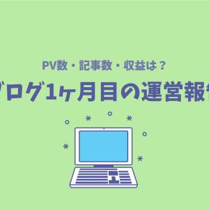 【ブログ運営報告】初心者ブログ開設1ヶ月目のPV数と収益は?