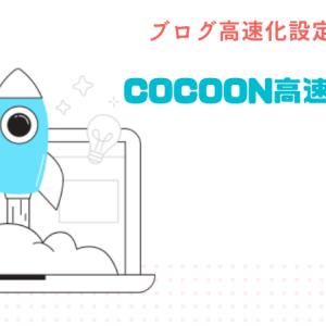 【プラグイン不要】cocoonを高速化させるおすすめのテーマ設定