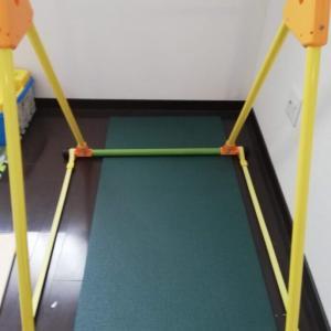 幼児の室内用鉄棒を置いたら、あっという間に逆上がりができるようになった!