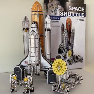 3ドルで作れる!本格的なスペースシャトルの立体パズル