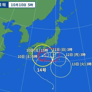 もしかしたら台風14号は迷走台風や逆走台風に可能性も・・・過去の迷走台風、逆走台風をまとめてみた。【※南下した後一回転した後再び北上する可能性も追加しました】