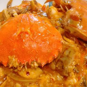 シンガポール料理 チリクラブを丸ガニ(ヒラツメガニ)で作ってみた!