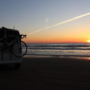 【自転車】車載で輪行一人旅 千里浜なぎさドライブウェイ(石川県) スタック対処方法 2019年4月⑦