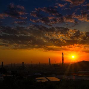【カメラ・風景写真】EOS 6Dmark2で工場夜景を写す 水島臨海工業地帯(水島コンビナート)