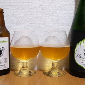 志賀高原ビールの山伏と通常のbramley saisonを飲み比べてみました。