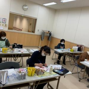 大阪でのカルチャー、トールペイントレッスンの様子