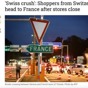 現在ロックダウン中 スイスの人々の行動