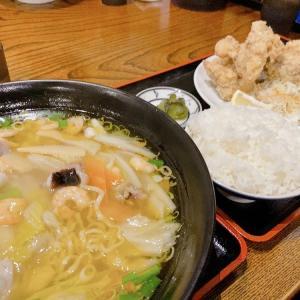 菜華楼(さいかろう) お目当ての中華麺。鳥の唐揚げ大きいです