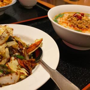 台湾料理 広源(こうげん)抻麺セット、麻婆豆腐
