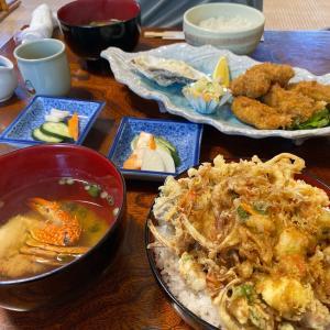 丑若丸 かき揚げ丼、カキフライ定食 会津若松ランチ