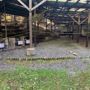 閉鎖されたキャンプ場