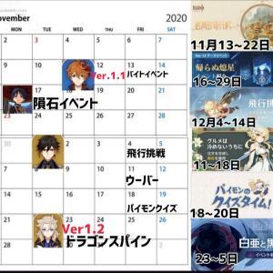 【原神】11月、12月はなかなかの地獄だったな