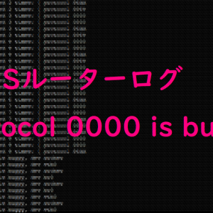 ASUSルーターのログ protocol 0000 is buggy が出た