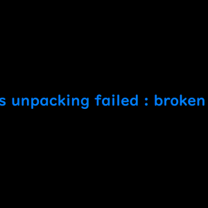 initramfs unpacking failed : broken padding