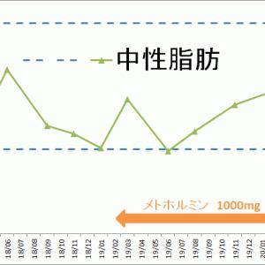 糖質制限3年の変化-中性脂肪