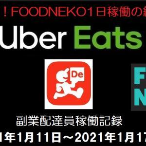 【副業UberEats配達員稼働記録】ネコの日!FOODNEKO1日稼働の結果は?