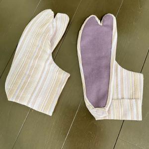 やっと作ってみた柄足袋。