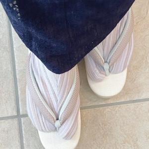秋準備と自分サイズにした柄足袋。