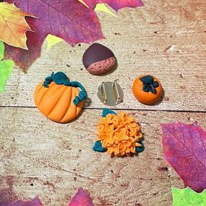 オーブン粘土で秋の帯留め作り。