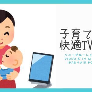 ソニーブルーレイコーダー+Video & TV SideView+iPad+Air Pods Proで子育て中も快適TV視聴