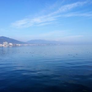 秋晴れ☀️レクサス♡🚲で湖岸を走り市役所に打ち合わせに行く🌷琵琶湖の美しさに癒される🌿