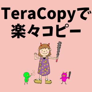 【バックアップは大切!】TeraCopyで楽々コピー【手遅れになる前に】